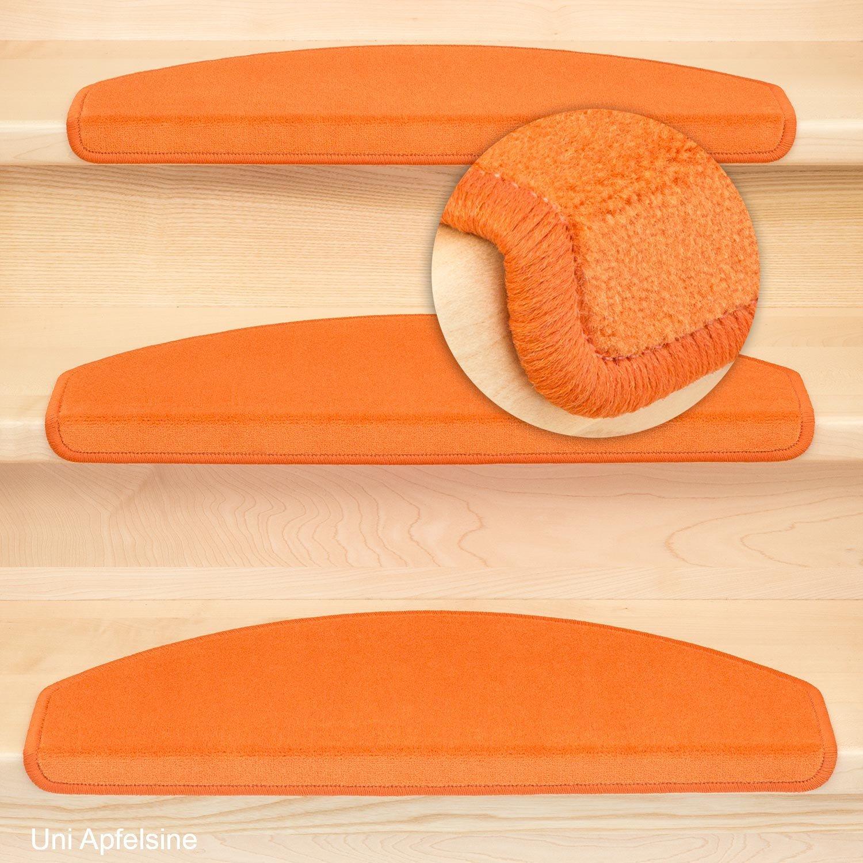 Stufenmatten Vorwerk Halbrund Uni Terra Orange - Set 15 Stück