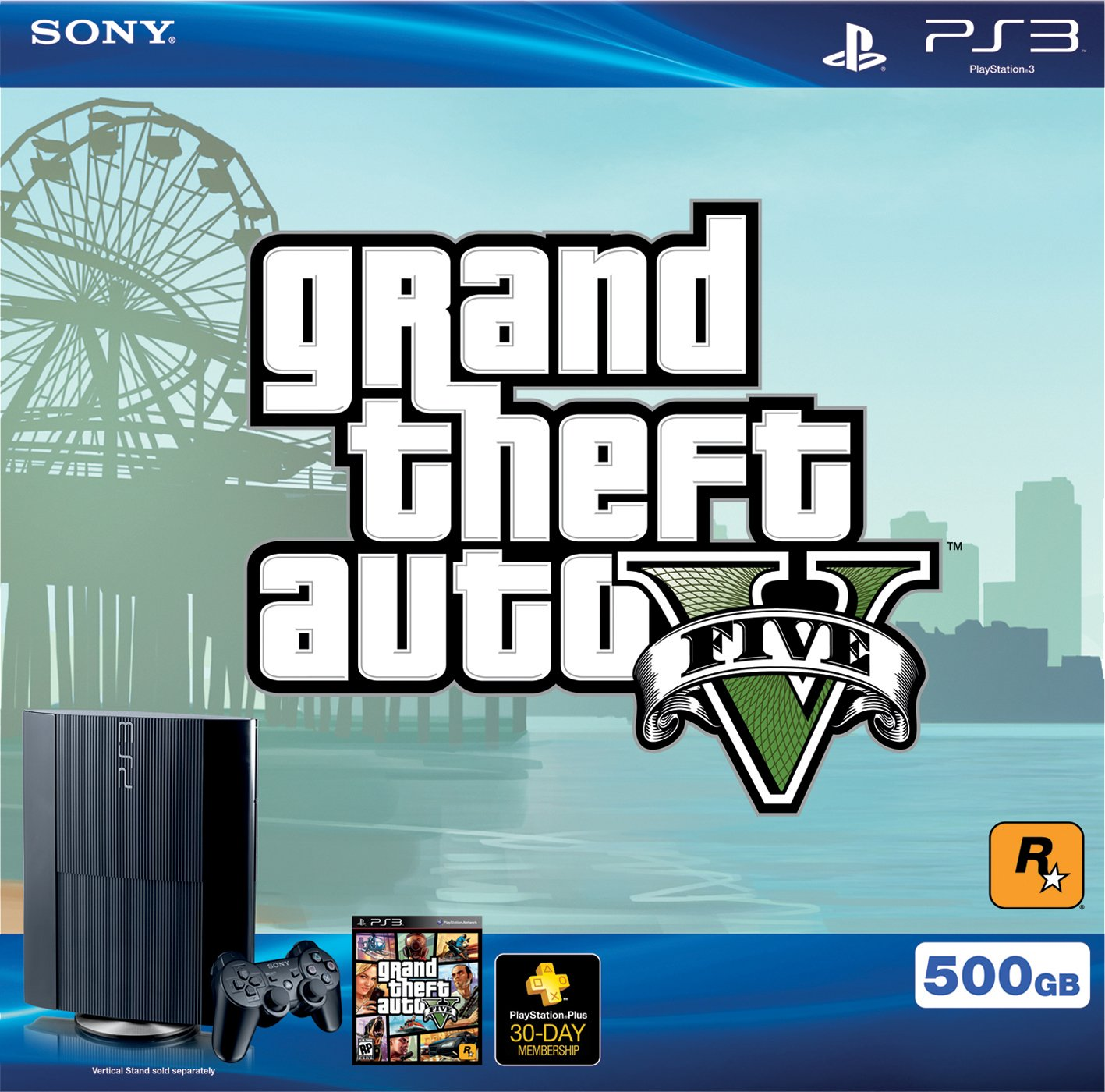PS3 500 GB Grand Theft Auto V Bundle by Sony