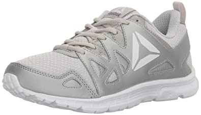 af1ec9b5688 Reebok Women s Run Supreme 3.0 MT Sneaker Skull Grey Silver White 5 ...