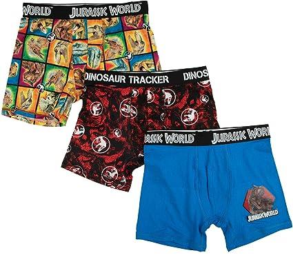 e34e7007e1 Amazon.com: Jurassic World Glow in The Dark 3-Pack Boxer Briefs for ...