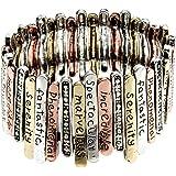 PammyJ Multi Tone Inspirational Bracelet - Inspiration Words Marvelous Incredible Spectacular