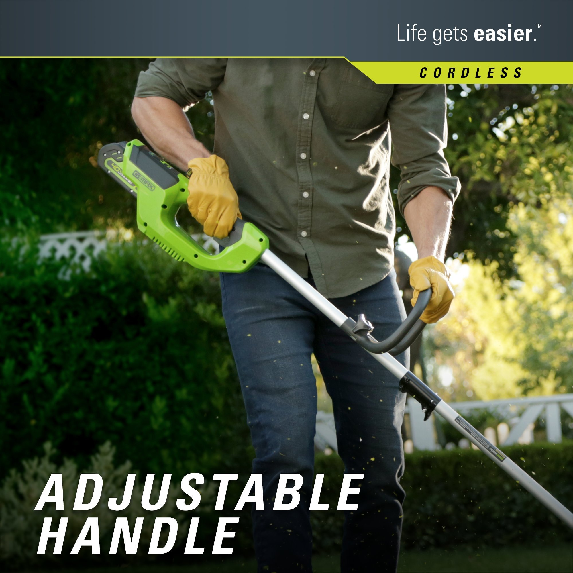 GreenWorks 2101602 G-MAX 40V 12-Inch Cordless String Trimmer, 2Ah Battery and Charger Included by Greenworks (Image #3)