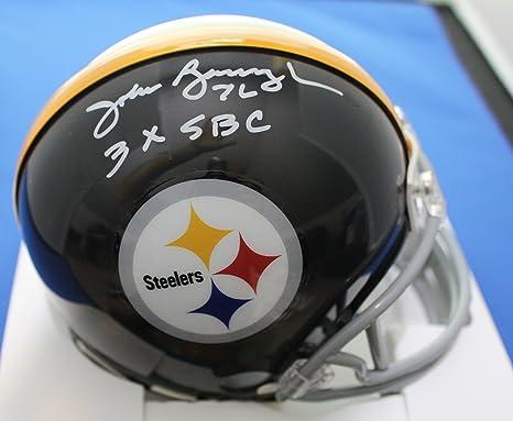 cc81e1b9260 Amazon.com: Autographed John Banaszak Pittsburgh Steelers mini helmet w/COA  & show ticket: Sports Collectibles
