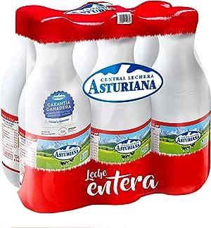 Central Lechera Asturiana - Leche Entera Botella 1,5L (Pack 6)