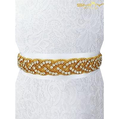 Shinybeauty Strass Applique pour mariage Sash mariée Sash Mariage Sash  Ceinture Décoration de mariage mariée Prix de Noël pour femmes mariage fête  Ra027, ... 432001414c9
