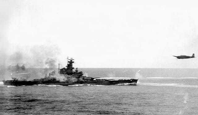 米国海軍Battleshipラミネート加工ポスターTheサウスダコタFiring Her anti-aircraftガンat Attacking Japanes
