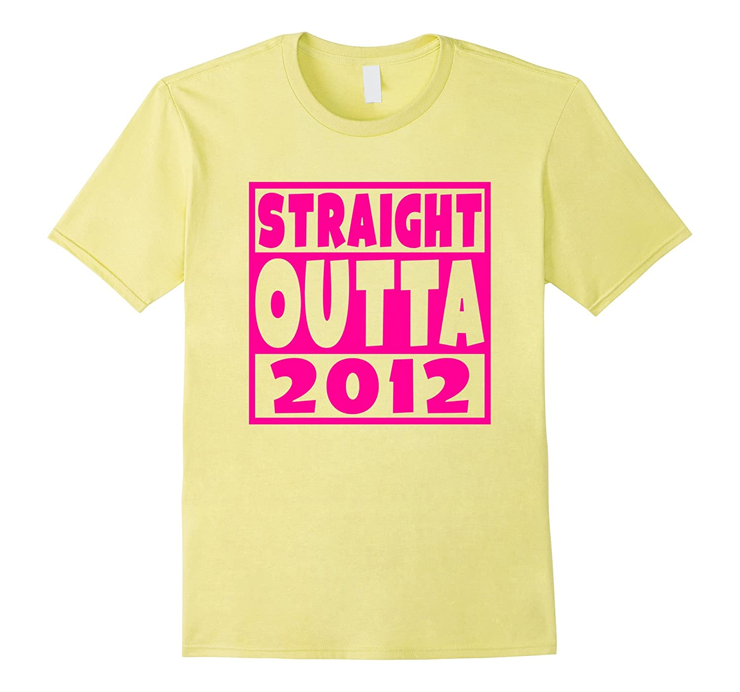 Pink Straight Outta 2012 Funny 5th Birthday Party T-Shirt-FL