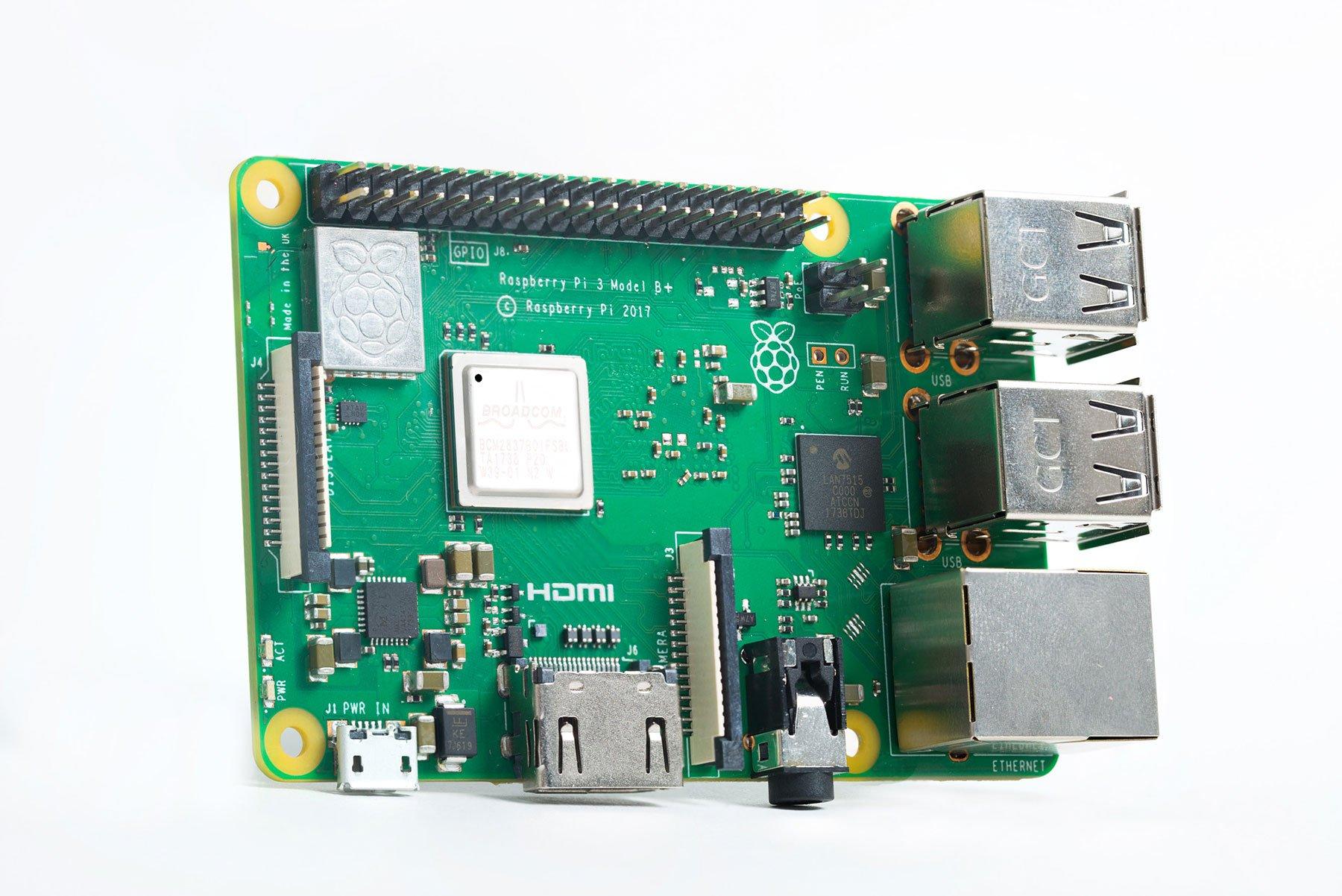 NeeGo Raspberry Pi 3 B+ (B Plus) Basic Kit Pi Barebones Computer Motherboard with 64bit Quad Core CPU & 1GB RAM, Black Pi3 Case, 2.5A Power Supply & Heatsink 2-Pack by NeeGo (Image #5)