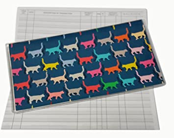 amazon com colorful cats checkbook with check register wallet