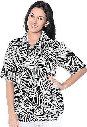 Vestido de la Playa de la Camisa Hawaiana de Manga Corta Blusa Encubrir Tirantes Mujeres Mangas de Las se�Oras: Amazon.es: Ropa y accesorios