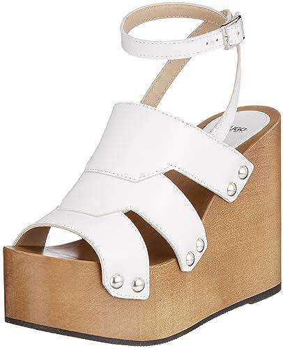 Hugo Uptown Wedge-s, Sandales Bride Cheville Femme, Blanc (White 100), 37 EU