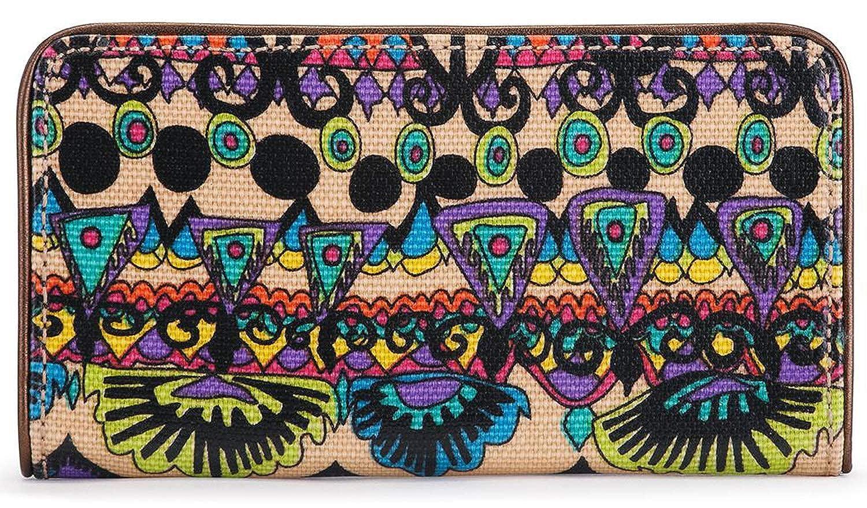 Sakroots Women's Artist Circle Slim Wallet, Radiant World, One Size