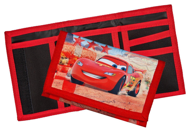 NAMENSDRUCK Geldbeutel mit Namen Geldb/örse Kindergeldbeutel Klettverschluss Klarsichteinschub M/ünzfach personalisiert /& Bedruckt Motiv Cars inkl
