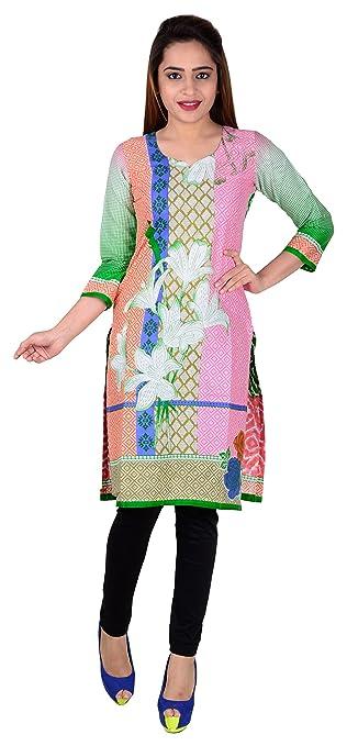 Sd Fabrics Women's Cotton Multi-Coloured Kurta (Sdf-Ukm-Ball-113_Free Size) at amazon