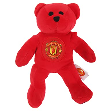 a169e1d18 Manchester United FC Official Mini Plush Football Club Teddy Bear (One Size)  (Red
