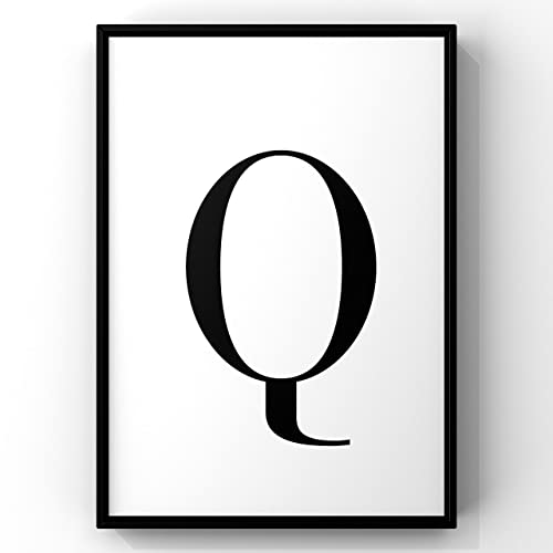 photo regarding Letter Q Printable named : Money Letter Q Print,Q Letter Print,Q Wall