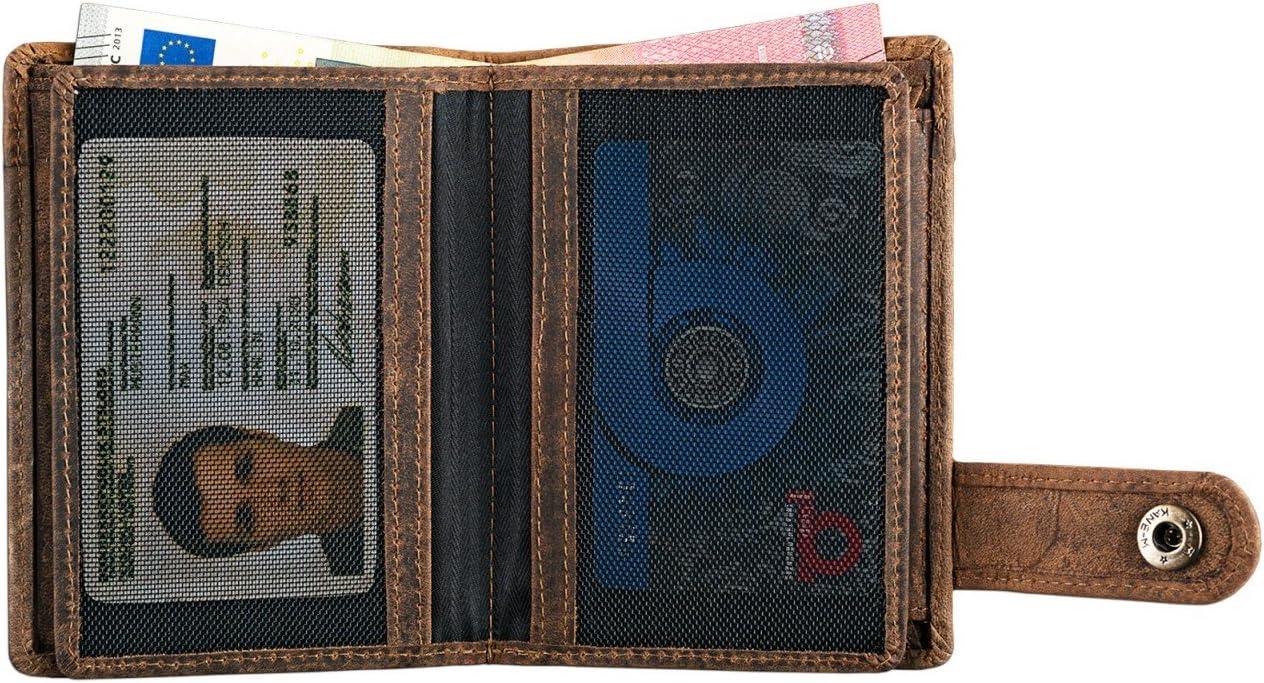 Cognac STILORD Milo Cartera Hombre Cuero Elegante para Tarjetas Billetes y Monedas Billetero Monedero de aut/éntica Piel Color:Kara