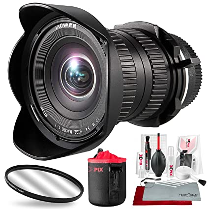 Venus Optics Laowa 15mm f/4 Macro Lens for Sony FE with Xpix Lens Pouch and  Deluxe Cleaning Kit Accessory Bundle