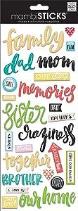 me & my BIG ideas My Family Sticker, 5-Inch by 12-Inch
