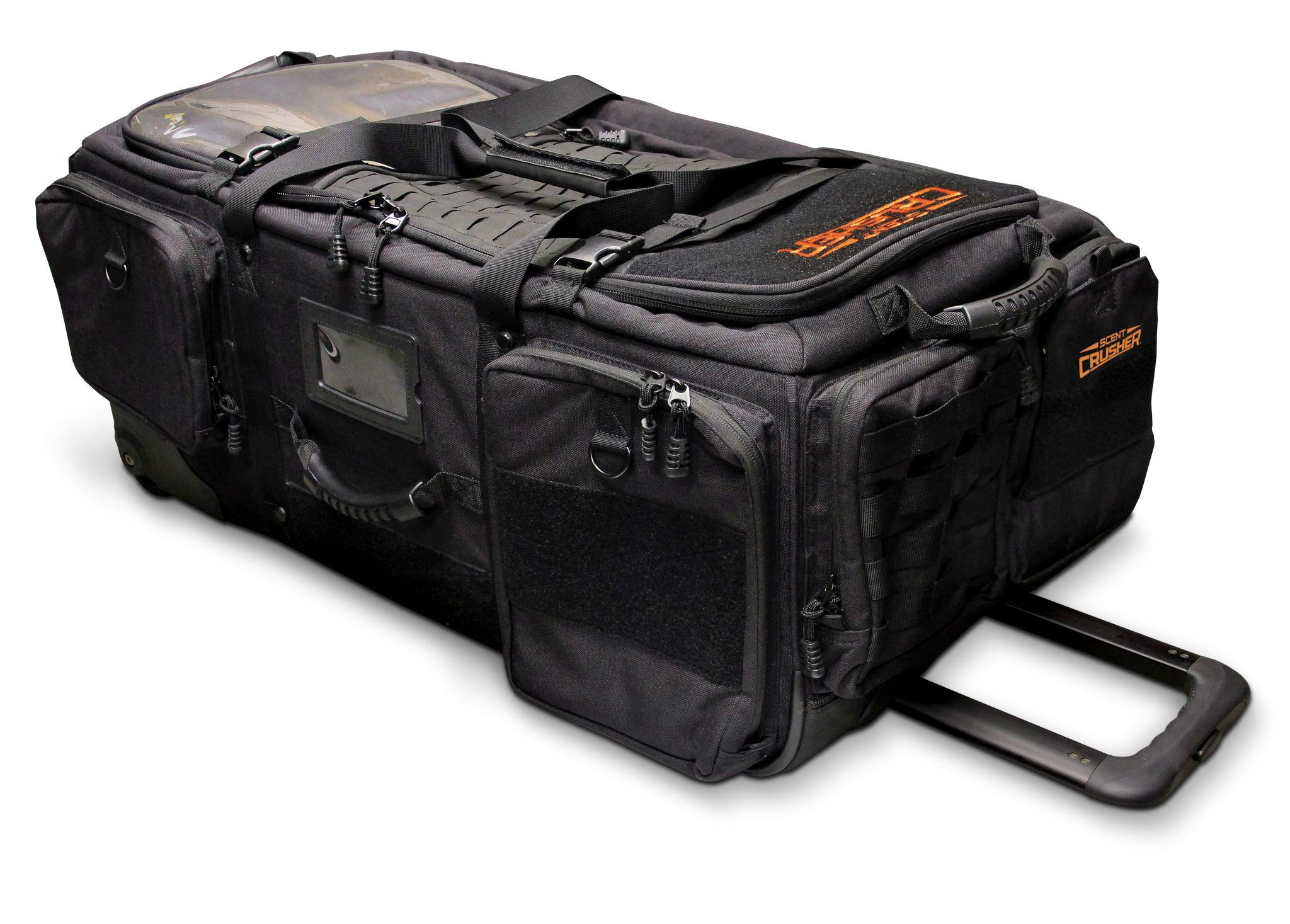 Scent Crusher Pro Series Transport Bag - Destroys Odors Within 30 mins, Heavy-Duty Oversized All-Terrain Wheels and Skit Plates, Use at Home or On The Way to The Field, Airport/TSA Compliant
