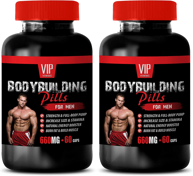 Muscle Building multivitamin - Bodybuilding Pills for Men - rhodiola rosea herb Supplement - 2 Bottles 120 Capsules