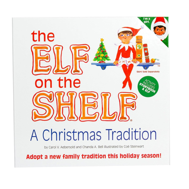 Amazon.com: Elf on the Shelf:A Christmas Tradition (brown-eyed ...