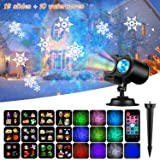 LED Christmas Lights Projector, Handheld Indoor Kids Projection Flashlight with 12 Patterns Light Show, Halloween Lights Decoration for Christmas, Easter, Carnival and Birthday Party (508)