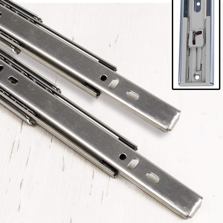 1 Paar Schubladenschienen VOLLAUSZUG Auszugsschiene Ohne Soft-Close 35mm Nut 350 mm L/änge