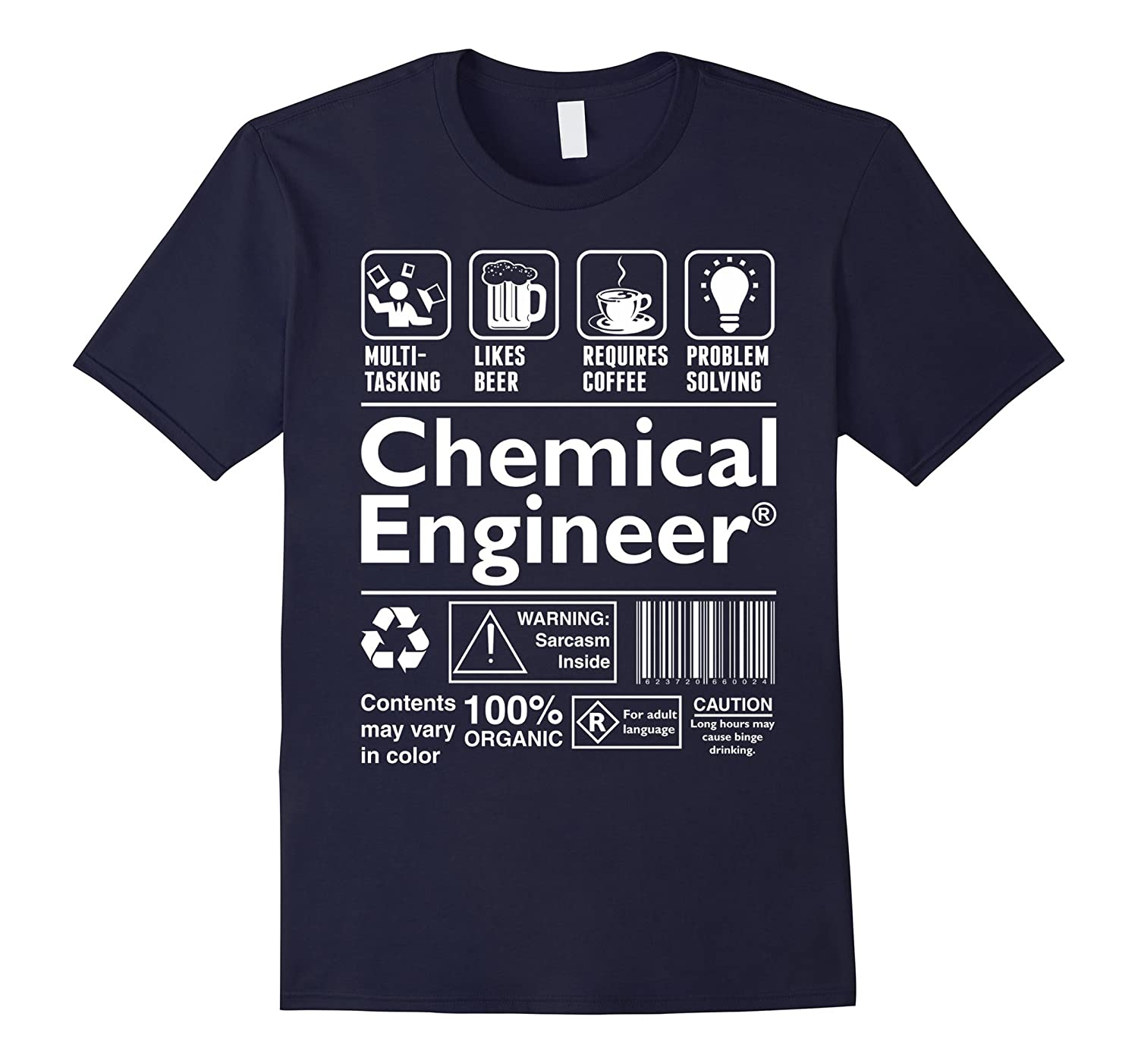 Beer Coffee Problem Solving Chemical Engineer Tshirt-TD
