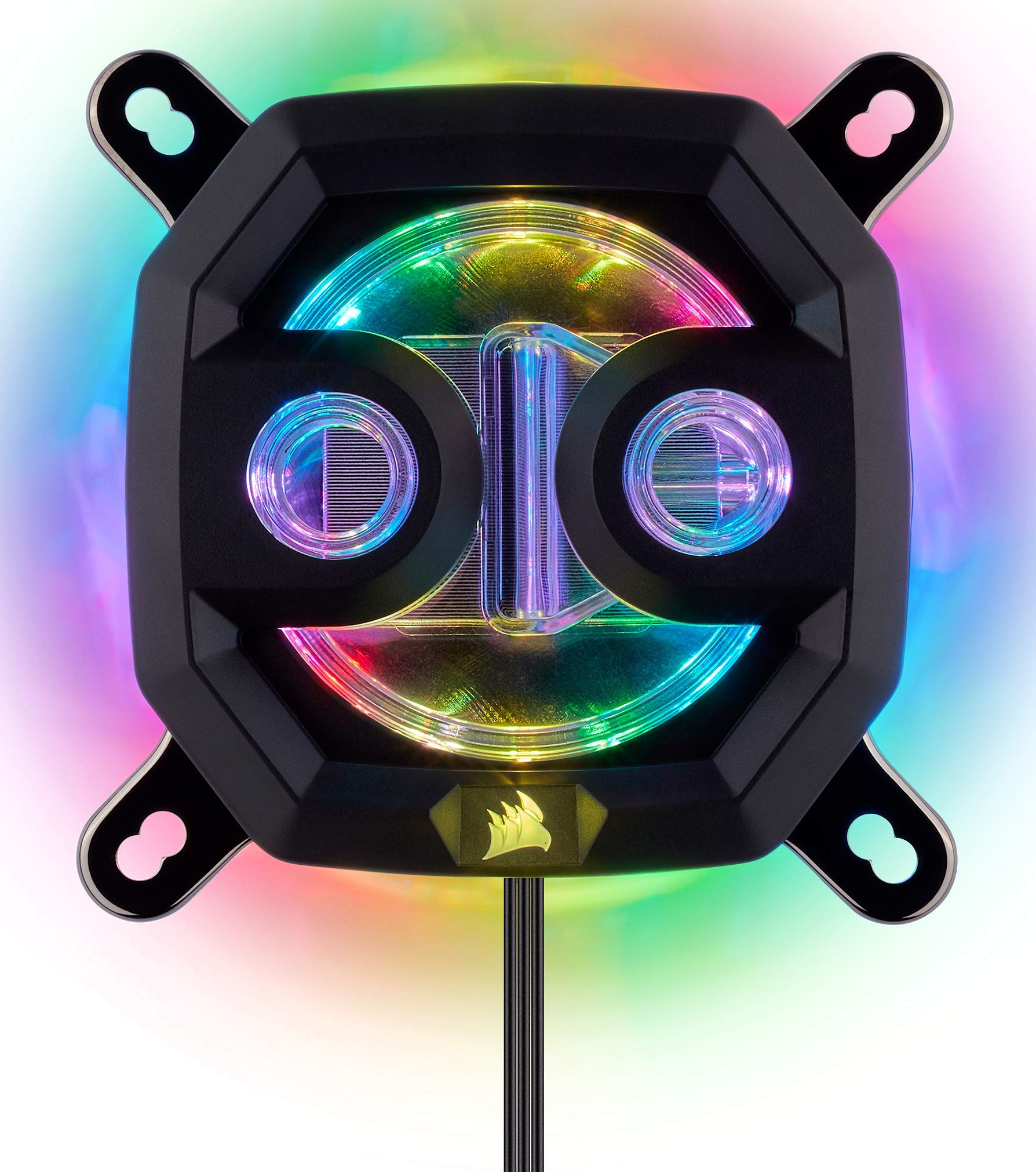 CORSAIR Hydro X Series,XC7 RGB CPU Water Block,16 Individually addressable RGB LEDs,Software-Enabled, 115X/AM4 by Corsair