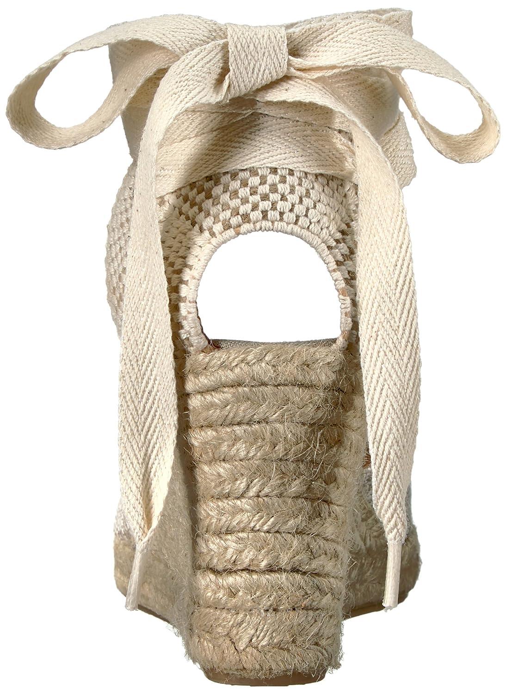 Soludos Women's Striped Tall B(M) (90mm) Wedge Sandal B01NCSMVH0 7.5 B(M) Tall US|Natural 558032
