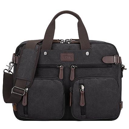 40783d54af48 S-ZONE 3-Way Convertible Laptop Backpack Messenger Shoulder Bag Hybrid  Briefcase Rucksack Fits 15.6 Inch Laptop for Men/Women