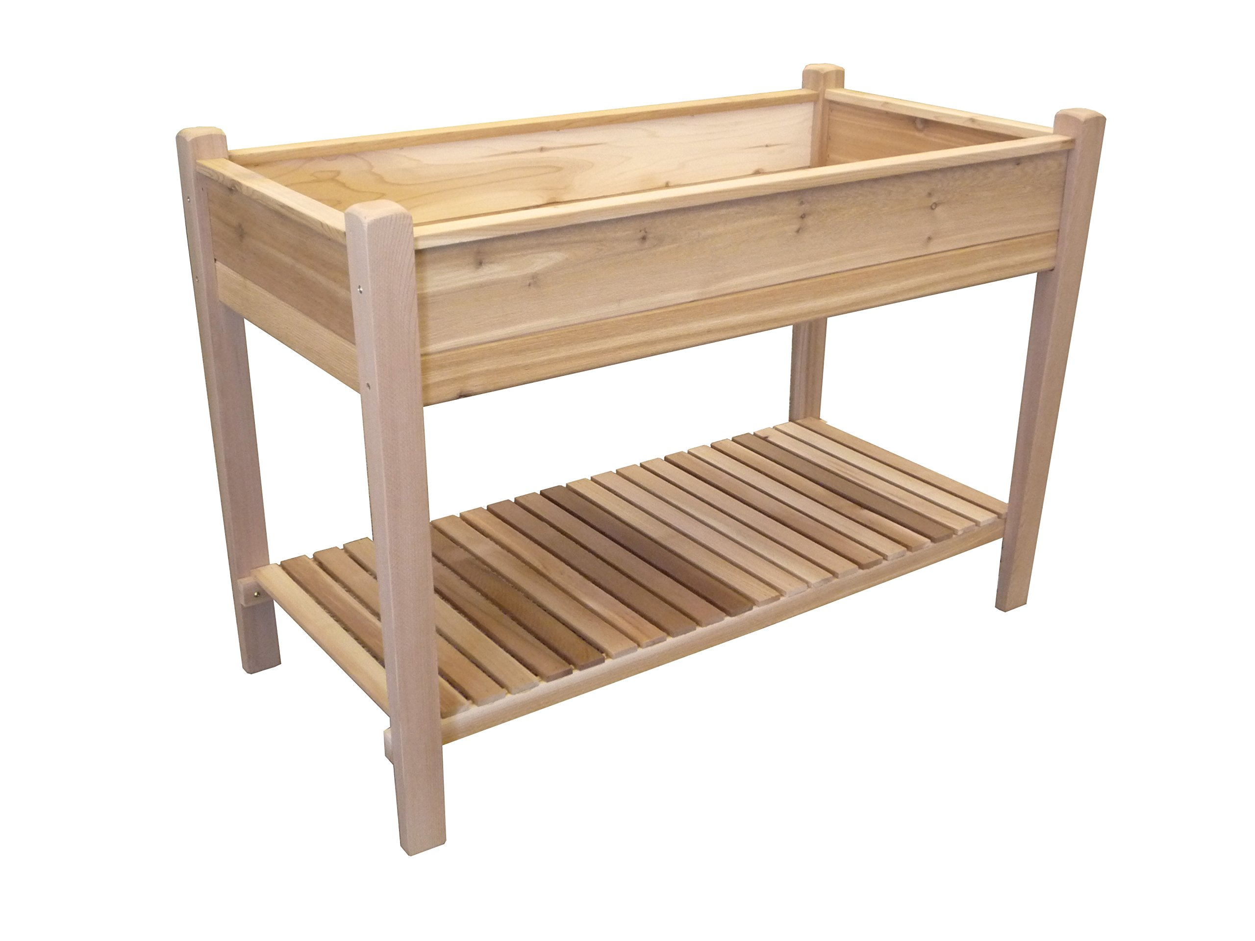 Tierra Garden 4432 Rectangular Red Cedar Raised Garden Bed