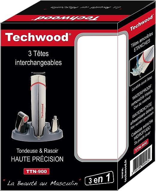 Techwood TTN-900 - Juego de afeitadora, recortadora y depilador ...