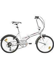 "BIKE SPORT LIVE ACTIVE Bikesport Folding Bicicletta Pieghevole 20"" (Gloss Bianco)"