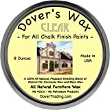 Dover's Chalk Paint Wax Chalk Paint Wax for Finishing and Sealing Painted Furniture, 8 Ounce - Clear