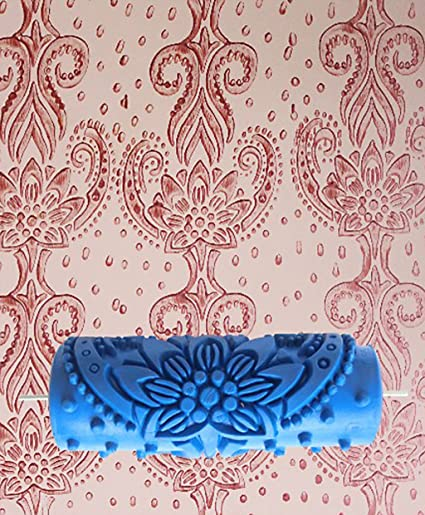 B Blesiya 15cm Wall Painting Roller Flower Embossing Decor For Paint