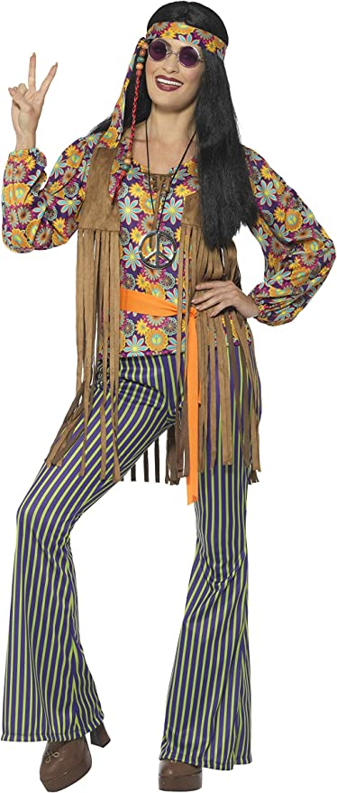 Hippie Dress | Long, Boho, Vintage, 70s Smiffys Womens 60s Singer Costume Female with Top Waistcoat $46.37 AT vintagedancer.com
