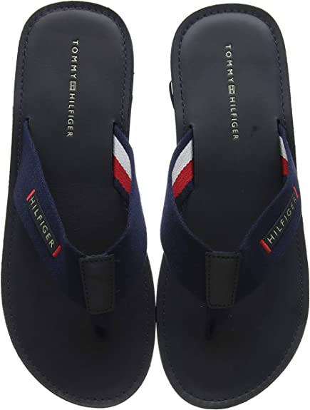 Tommy Hilfiger Elevated Leather Beach Sandal, Chanclas para Hombre ...