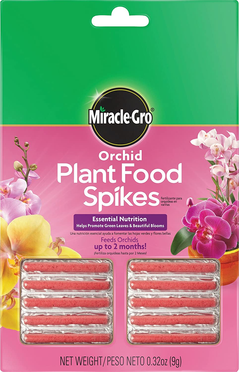 Amazon Com Miracle Gro Orchid Plant Food Spikes 1 Pack Of 10