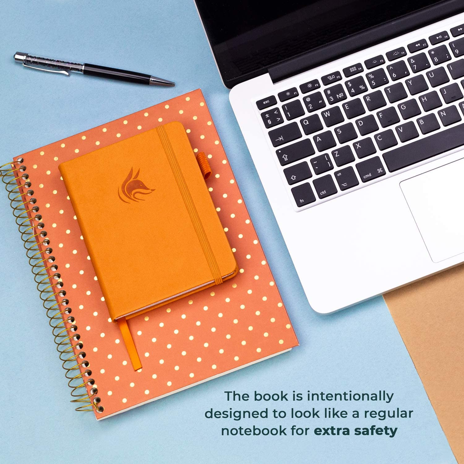 Clever Fox Password Book with tabs Small Pocket Size Password Keeper Journal Notebook for Computer Logins Internet Address and Password Organizer Logbook with Alphabetical tabs Aquamarine