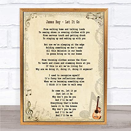 Amazoncom James Bay Let It Go Song Lyric Quote Print Office