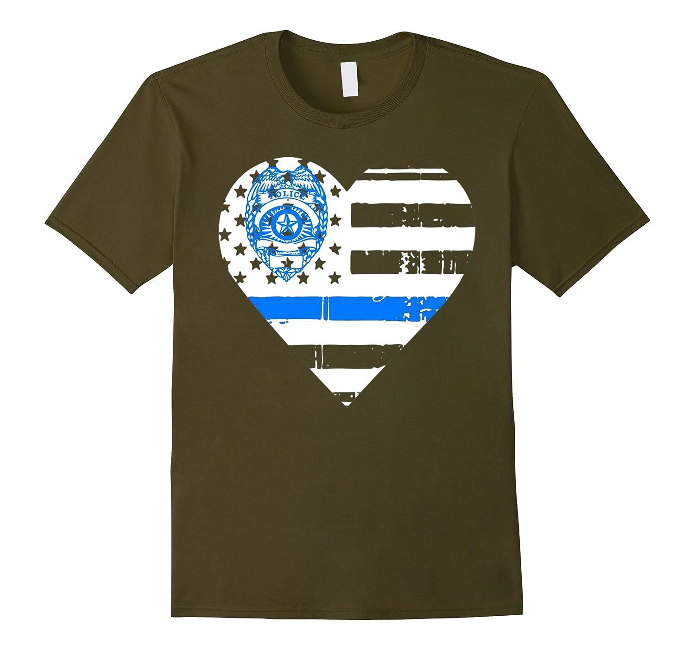 Thin blue line t shirt thin blue line heart shirt goatstee for Texas thin blue line shirt