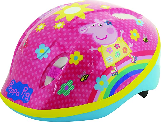 Amazon.com: Peppa Pig - Casco de seguridad para verano (18.9 ...