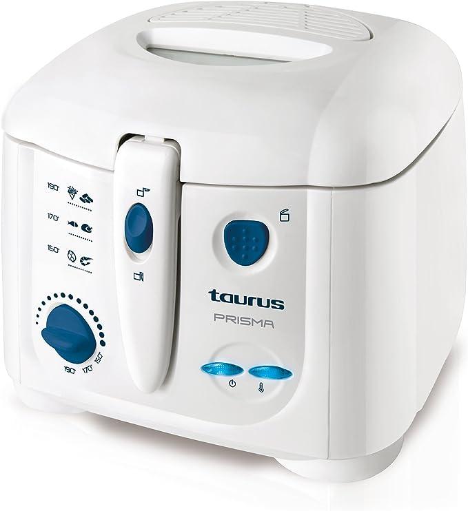 Taurus Prisma Freidora, 1.2 kg, Plástico, Color blanco: Taurus ...