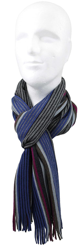 Blu grigio Sciarpa lavorata a maglia Sciarpa da uomo Red Fox/® Unisex Lana A righe Multicolore