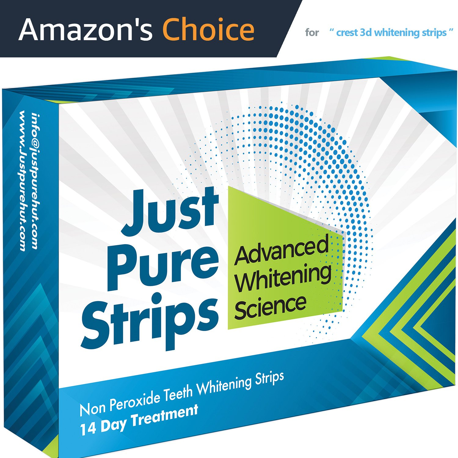 Dentist Teeth Whitening Strips - Best Advanced Professional 3d Whitestrips - At Home Tooth Whitener Kit - Pack of 28 (14 day Course) - Zero Peroxide Gel Products - No Powder Syringes or Toothpaste product image