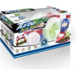 Mindscope Turbo Twister Flip Racer Red/Blue Radio Control RC Light Up LED Stunt Action Vehicle