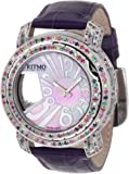 Ritmo Mundo Women's D204/3 SS Multi Diamond Persepolis Dual-Time Orbital Case Quartz Watch