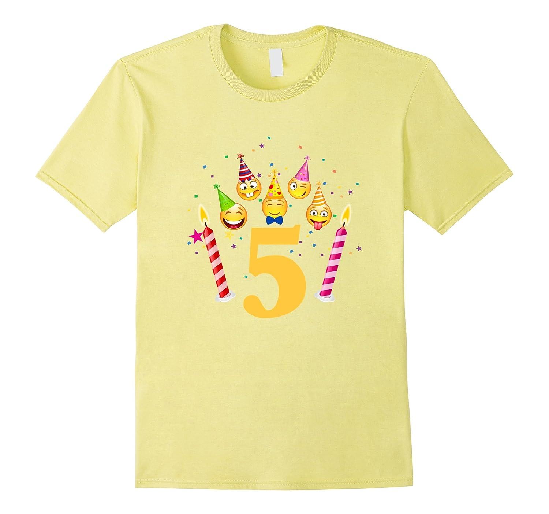 Emoji Birthday Shirt For 5 Five Year Old Girl Boy Toddler TH